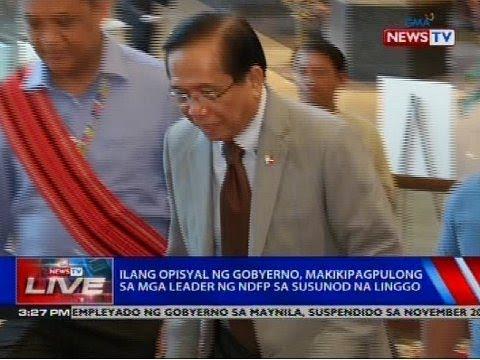 [GMA]  Ilang opisyal ng gobyerno, makikipagpulong sa mga leader ng NDFP sa susunod na linggo