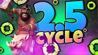 2.5 HOG CYCLE DECK in CLASH ROYALE