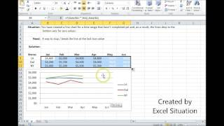 Excel Line Chart don't chart blanks