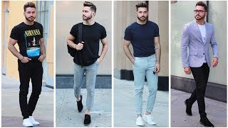 4 EASY AND AFFORDABLE SUMMER OUTFITS | Mens Summer Lookbook 2017 | Mens Fashion