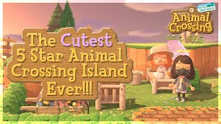 Beautiful Cottage Style 5-Star Island! Animal Crossing New Horizons Island Tour