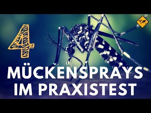 Mückenspray Test 2018 (4K) - 4 Insektensprays im Vergleich