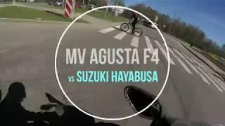 MV Agusta vs Hayabusa  на дороге