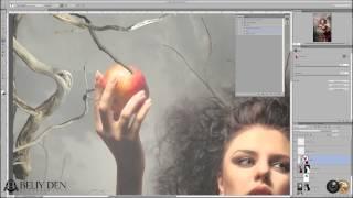 Photoshop,  Beliy Den: Ретушь и создание фентезийного коллажа
