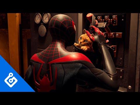 《漫威蜘蛛人 邁爾斯摩拉斯》中小寵物「蜘蛛貓」的任務及展示