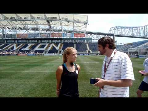 Charlie Flowe interviews Heather Mitts USWNT at PPL Park