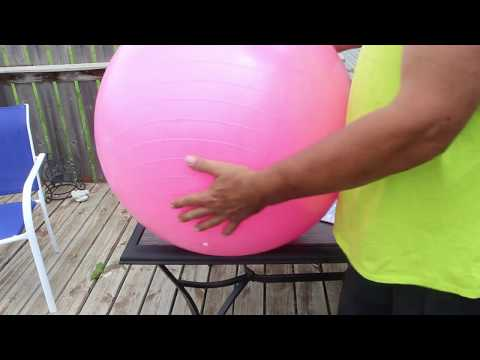 Life Hack - A Fast and Easy Way to Inflate an Exercise Ball