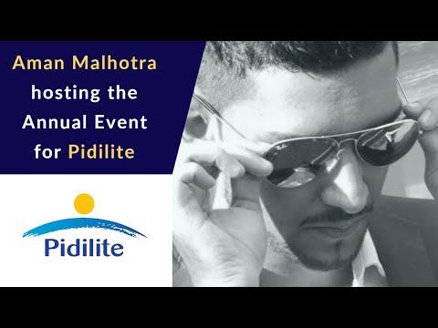 Aman Malhotra hosting for Pidilite