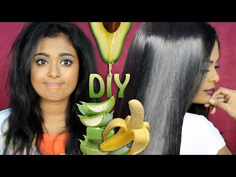 Video DIY: Treat Dry, Damaged, Frizzy Hair Naturally At Home-Winter Haircare  to Get Soft, Glossy  Hair