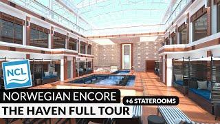 Complete Haven Complex Walkthrough Tour & Review   6 Staterooms   Norwegian Encore   4K