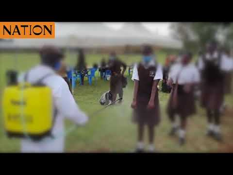Uproar over video of schoolgirls being fumigated against Covid-19