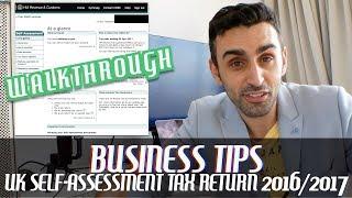 UK Tax Return for 2017/2018 Walkthrough | Full-Time & Self-Employed Freelancer