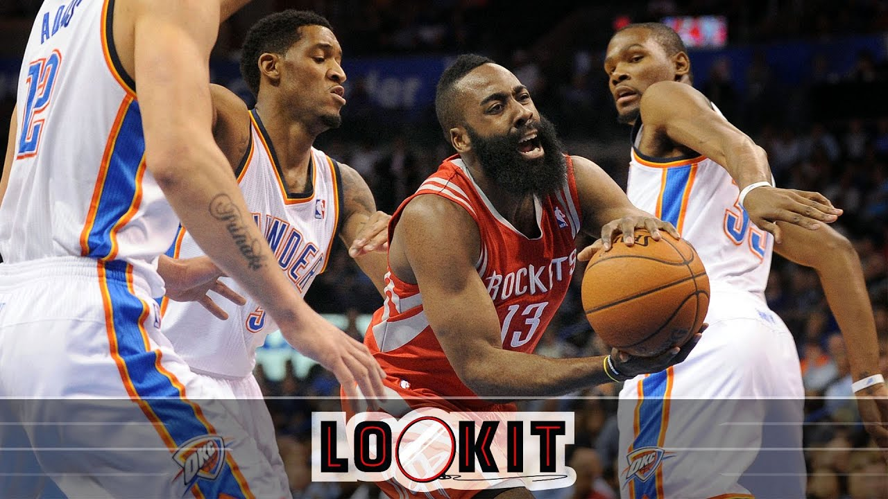Watch: Rockets and Thunder get chippy, Kevin Durant rises above (#LOOKIT) thumbnail