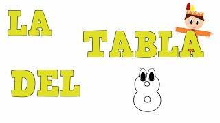 La Tabla del 8 -  Tablas de Multiplicar -Vídeos educativos para Niñosy Bebés - Paty y Poty