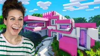Building My Girlfriends DREAM House In Minecraft!