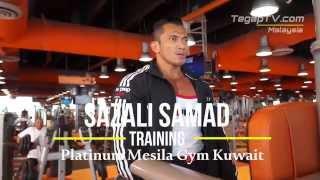 preview picture of video 'Sazali Samad Training at Platinum Mesila Gym, Kuwait'