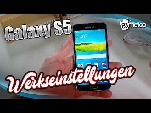 Samsung Galaxy S5 auf Werkeinstellung zurücksetzen