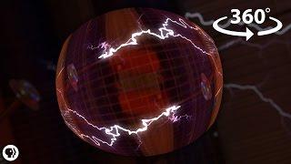 Between Two Tesla Coils! - 360 Video