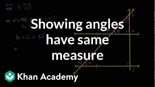 Showing Angles Have Same Measure