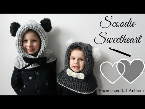 Scoodie - Cappuccio per bambini - Video Tutorial Uncinetto