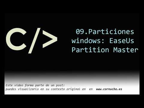 Gestor de particiones: EaseUs Partition Master