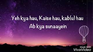 Yeh kya hua kaise hua full song lyrics | Amar Prem   - YouTube