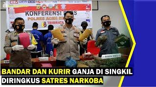 VIDEO - Bandar & Kurir Ganja di Singkil Diringkus Satres Narkoba