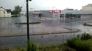 preview picture of video 'Riesen Hagel Unwetter - Zülpich, 09.06.2014'