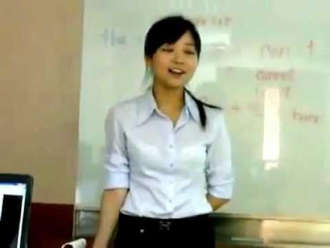 Ai muốn cô giáo dạy tiếng anh như vậy ko ^^!