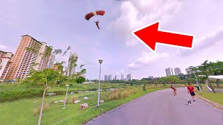 World's Smallest 3D-Printed Flying Parachutist (FPV)