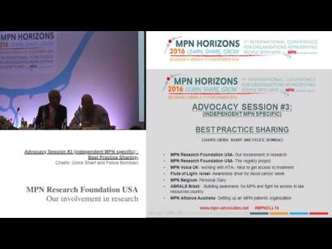 Advocacy session #3 Best practice MPN Research Foundation USA