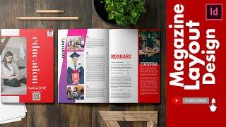 Magazine Layout Design  |   Adobe InDesign Cc  |  Speed Art