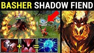 BASHER SHADOW FIEND 500 IQ BUILD PATCH 7.14 DOTA 2 NEW META GAMEPLAY #96