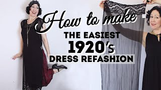 How To Make Your Own 1920s Dress Refashion From Scarves! Need A 2020, Flapper/ Or Gatsby Costume?