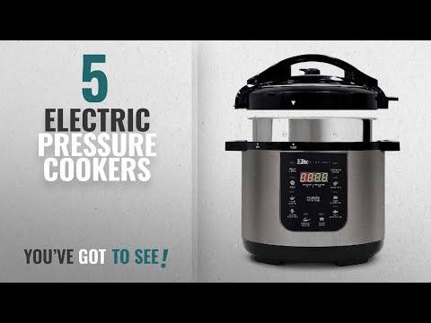 , Elite Platinum EPC-414 Maxi-Matic 4 Quart Electric Pressure Cooker, Black (Stainless Steel)