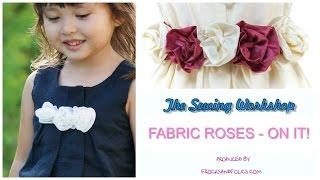 How To Sew A Fabric Rose / Silk Rose DIY / Flower Girl Dress