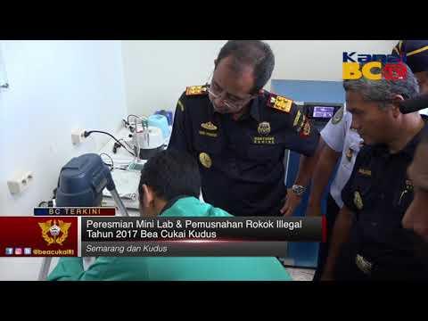 Peresmian Mini Lab & Pemusnahan Rokok Illegal Tahun 2017 Bea Cukai Kudus
