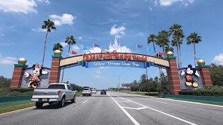 Walt Disney World Driving Down World Drive to the Magic Kingdom