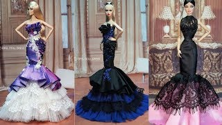 Sequence 01Easy And Beautiful DIY Barbie Doll Dresses   Gown For Barbie