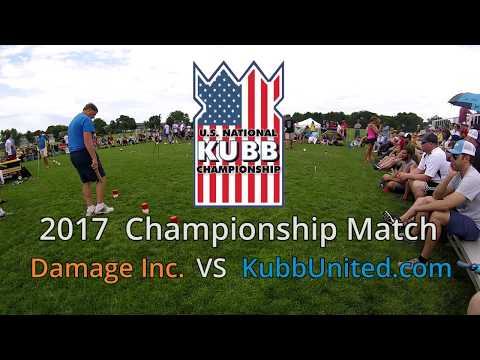 2017 U.S. National Kubb Championship Finals (Damage Inc vs KubbUnited.com)