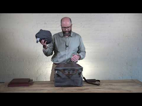 Large Canvas & Leather Briefcase Video