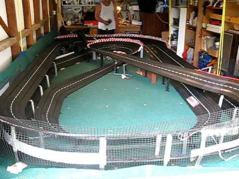 Awesome Carrera home slot car track