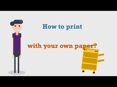 How to print with your own paper?