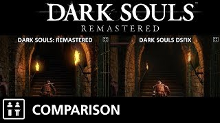 Dark Souls: Remastered (PS4 Pro) vs Dark Souls DSFix (PC) - Comparison