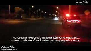 Chile | DASHCAM - High speed Police chase in Route 25 Calama | Dodge Durango Carabineros de Chile