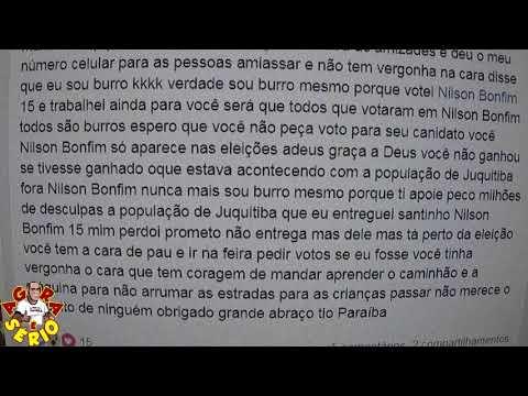 Paraíba cabo eleitoral na ultima eleição vai até as redes sociais pedir desculpas para a população de Juquitiba por ter pedido para votar em Nilson Fiscal
