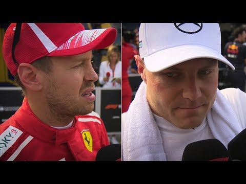 Image: WATCH: Bottas and Vettel reaction to turn 1 collision!