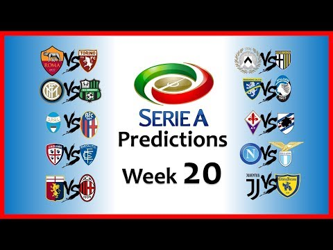 2018-19 SERIE A PREDICTIONS - WEEK 20