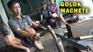 How Blacksmiths make Golok Machetes in Central Java