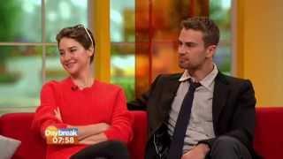 Theo James & Shailene Woodley on Daybreak